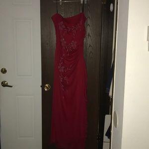 Full-length semi-for a dress
